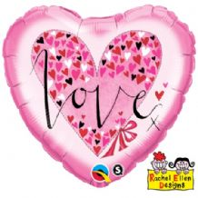 "RE - Love Little Hearts Foil Balloon (18"") 1pc"